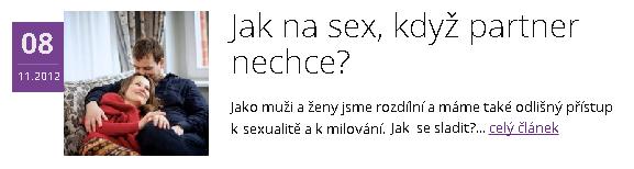 Jak na sex, když partner nechce